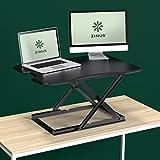 Zinus Tina Smart Adjust Standing Desk / Adjustable Height Desktop Workstation / 32' x 22' / Black