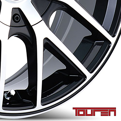 TOUREN TR60 (3260) BLACK Wheel MACHINED FACE Ring (0 x 8.5 inches /5 x 108 mm, 40 mm Offset)