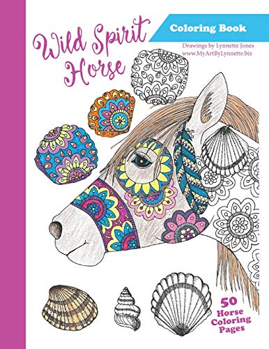 Wild Spirit Horse Coloring Book: The Wild Horses of Assateague