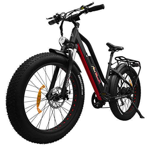 Addmotor MOTAN Step-Thru Electric Bicycle Comfort Fitness Bike 26 Inch Fat Tire Suspension 750W...