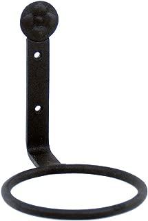 Achla Designs SFR-04, 4 inch Flower Pot Ring Wall Bracket, 4-inch, Black