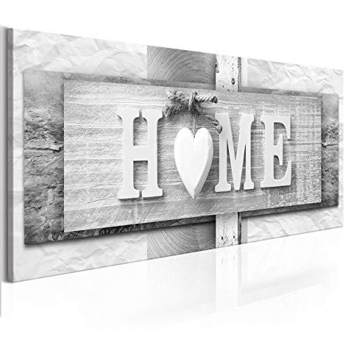 decomonkey Bilder Home Haus 120x40 cm 1 Teilig Leinwandbilder Bild auf...