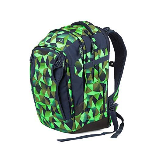 Satch match Schulrucksack - ergonomisch, erweiterbar auf 35 Liter, extra Fronttasche - Fresh Crush - Blau