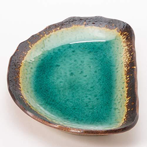 美濃焼半月便利皿緑彩K51229