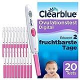 Clearblue Kinderwunsch Ovulationstest Digital - Fruchtbarkeitstest für Eisprung, 20 Tests -