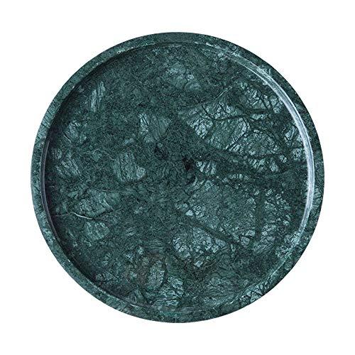 YLiansong-home Caja de Almacenamiento Retro pequeña joyería Bandeja de tocador de mármol del baño Baño for la joyería, Perfume, Maquillaje, cosmético del almacenaje Bandeja de joyería