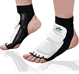 Kitchnexus Taekwondo PU Protectores De Pies Karate Pads, Tobillera para Artes Marciales, Saco de Boxeo y Entrenamiento