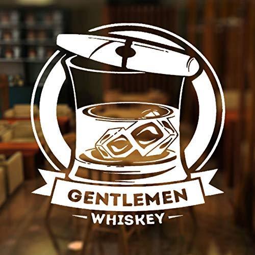 Bar Alcohol Sigaar Whisky Tequila Wijn Drinken Raam Sticker Banner Vinyl Decoratie Vliegtuig Muur Stickers Verwijderbare Muurschildering 42X44Cm