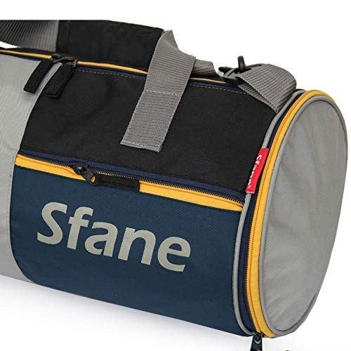 SFANE Polyester GymBag with Separate Shoes Compartment