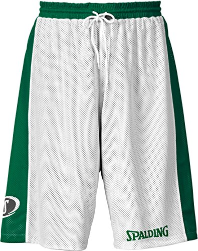 Spalding Herren Hose & Shorts Essential Reversible Shorts, grün/Weiß, XS