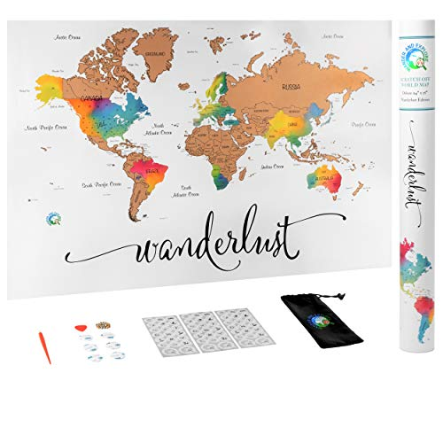 """Scratch Off Map of The World 