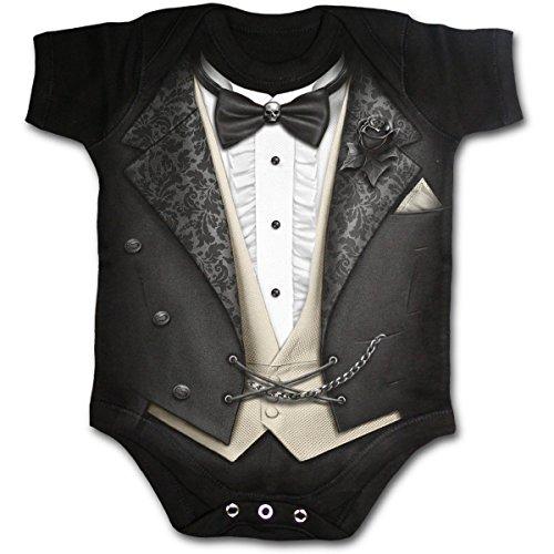 Spiral Tuxed Body Bebé Negro S