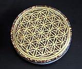 ORGONITE ORGONE 4' Flower of Life Coaster Water Charging Plate Energy Reversible Dome