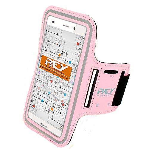 Brazalete Deportivo Reflectante para Smartphones Desde 5,5' hasta 6,3', en Color Rosa