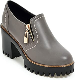 BalaMasa Womens APL12252 Pu Block Heels