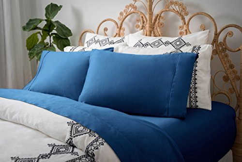 Magnolia ORGANICS Dream Collection Sheet Set - Queen, Moroccan Blue