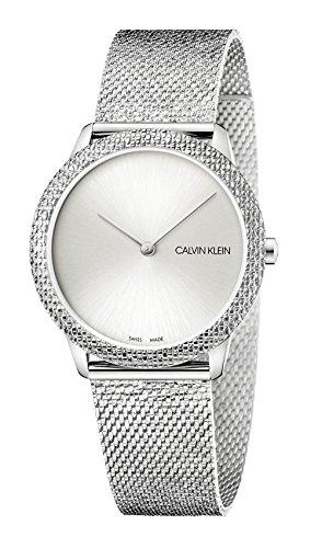 Calvin Klein Unisex Erwachsene Analog Quarz Uhr mit Edelstahl Armband K3M22T26