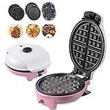 Mini máquina de tostadora eléctrica de waffle fabricante para gofres individuales, paninis, donas, otro en el desayuno, almuerzo o bocadillos, recubrimiento antiadherente