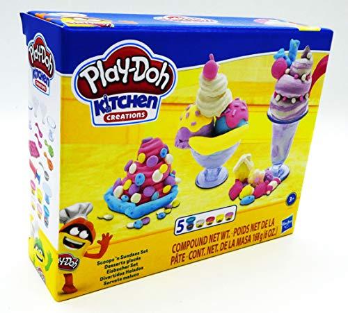 Play-Doh Kitchen Creations Ice Cream Scoops 'n Sundaes Set