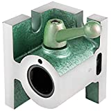 VEVOR 5C Collet Fixture, Type C Collet Holder, 225-202C Collet Chuck Cam Lock Collet Block Grey and Green Grinding Jig Grinding Fixture Vertical and Horizontal Milling Attachment for Lathe Collets