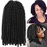 Spring Twist Curly Crochet Hair Extensions Synthetic Pretwisted Hair Braids Box Braiding Passion Twists Kanekalon Marley Hair Extension 15stands/pack