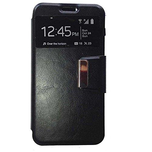 Todobarato24h Funda Libro Ventana Negra Compatible con Huawei Y635