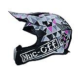 Caschi moto uomo,casco motocross integrale in fibra di carbonio con visiera esterna per moto da montagna Accessori moto 4 stagioni