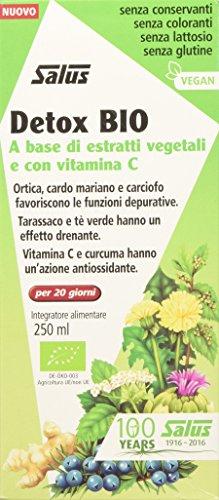 Salus Detox Bio - Integratore Alimentare A Base Di 16 Piante E Con Vitamina C Naturale, Per Favorire L'Eliminazione Delle Tossine - 250 Ml