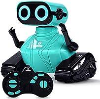 ALLCELE Remote Control Robot for Kids Children ,Educational Robots Toys,Smart Robotics with LED Eyes,Dance and...