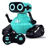 ALLCELE RC Roboter Kinder Spielzeug, Ferngesteuertes Auto Roboter Spielzeug mit Fernbedienung für Kinder ab 6+ Jahren, Süß Aussehen, Interessant Musik, Geschenk für Jungen und Mädchen (Blau)