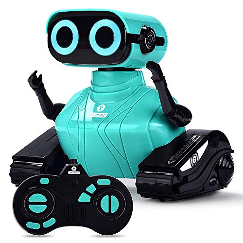 ALLCELE Robot Toys for Boys Kids, Remote Control Robotic Toy with LED Eyes Dance and Sounds, Gifts for 6+ Year Old (Blue)