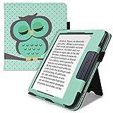 kwmobile Étui pour liseuse électronique Compatible avec Kobo Libra H2O - Étui Housse Protection Turquoise-Marron-Menthe glaciale