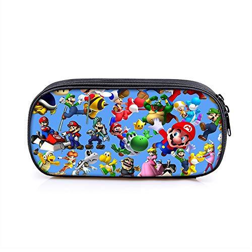 FENGHUO Super Mario Mochila Dibujos Animados Super Mario Bros Sonic Kids Pencilbag Student Penbag para Niños Nuevo Lindo Estuche De Papelería Estuche para Lápices: Amazon.es: Hogar