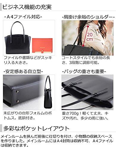 [目々澤鞄]リクルートバッグレディースA4自立黒軽量就活リクルートsk1003ピアノブラック(10)