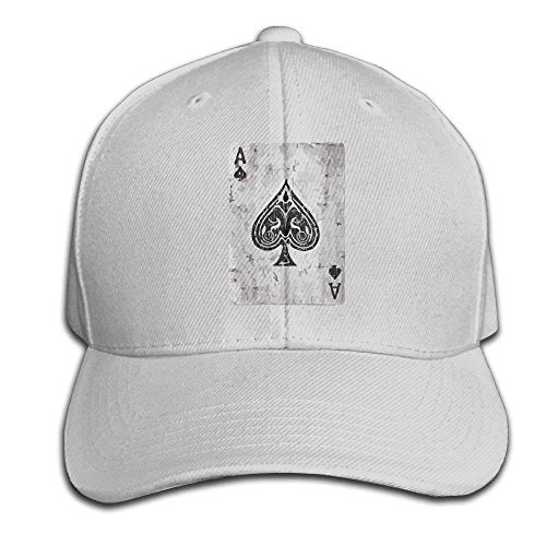 errterfte Ace of Spades Card Vintage Adult Snapback Hat Sandwich Peaked Trucker Cap Baseball Cap Unisex Black Personalized Hat Comfortable Adjustable