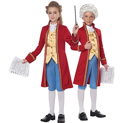 California Costumes Child Unisex Classical Composer/Amadeus Child Costume Red/Gold