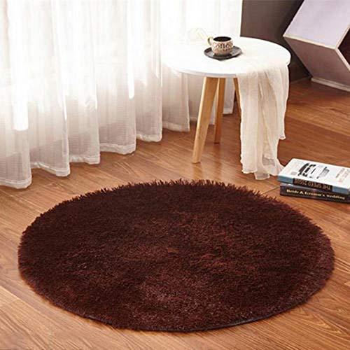 ANBAI bont rond tapijt woonkamer/slaapkamer nachtkastje sofa zacht pluche kussen modern bereik tapijtvloermat