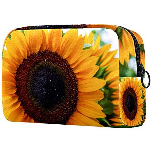 Bolsa de aseo de viaje, fácil organización para hombres o mujeres, flor de girasol Helianthus