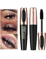 4D Silke Fiber ögonfrans mascara, extra lång tjock och voluminöst laser mascara, svart långvarig vattentät 4D mascara