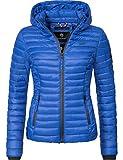 Marikoo Damen Übergangs-Jacke Steppjacke Samtpfote Dusty Blue Gr. XL