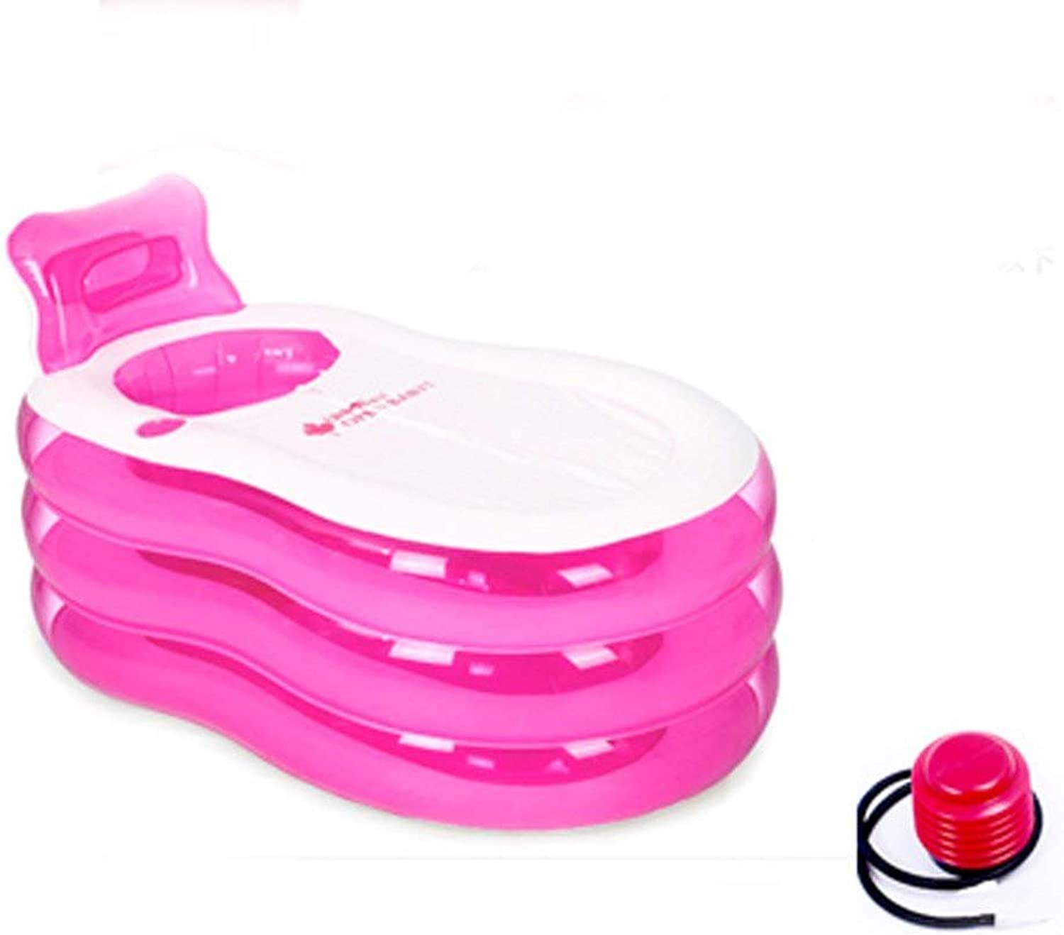 PRIDE S Transparent Thickening Inflatable Adult Bathtub ( color   Pink small feet pump )