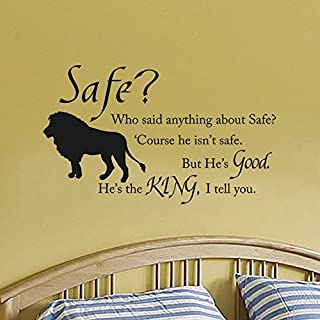 Wall Decal Decor Chronicles of Narnia Aslan Safe Wall Quote Wall Decal Vinyl Art Stickers for Children Room Baby Nursery Classroom(Black, 13
