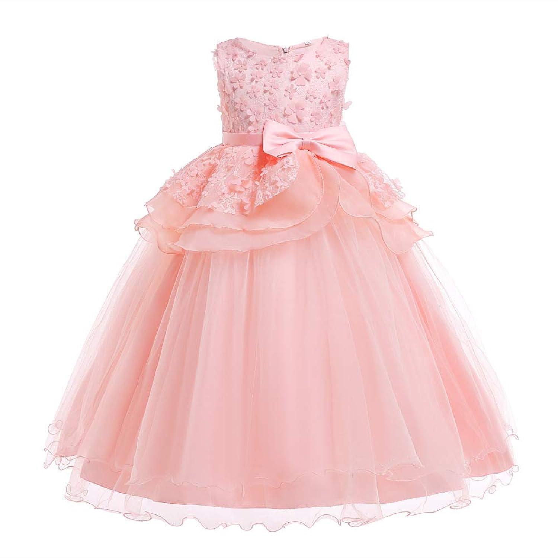 (BaQi Trade)子供ドレス ガールズドレス 女の子ロングドレス キッズ フラワーガールズ 子供フォーマル パーテイードレス