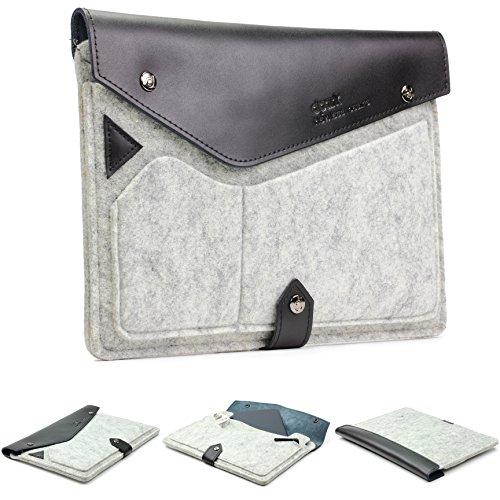 Urcover® 8 Zoll Tablet dpark Tasche Hülle Sleeve Notebooktasche Laptophülle kompatibel mit iPad Mini & Mini 2, Galaxy Tab S2 8.0, Sony Xperia Z3 Tablet Compact in Grau Schwarz
