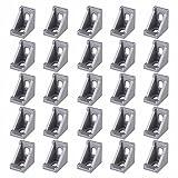 25 Pezzi Staffa Angolare Alluminio, 2020 Staffa Angolare in Lega di Alluminio, Giunto ad Angolo Retto Staffa, per Edilizia, Industria Macchina da Taglio Stampante 3D per Uso Domestico