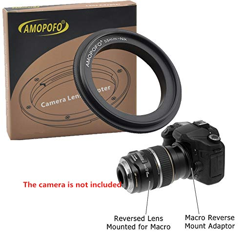 55mm-Niko Retroadapter/Makro Umkehrring Ring,Kompatibilität für Nikon Bajonett DSLR Kamera D7100 D5200 D600 D3200 D800/D800E D4 D5,für Makroaufnahmen