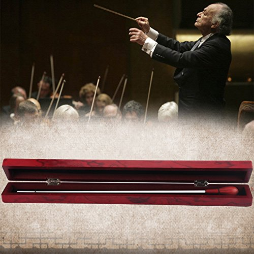 Music Conducting Baton Orchestra Baton Rosewood Handle Baton with Wooden gift box Conducting Baton(Rosewood Baton+Wooden Box)
