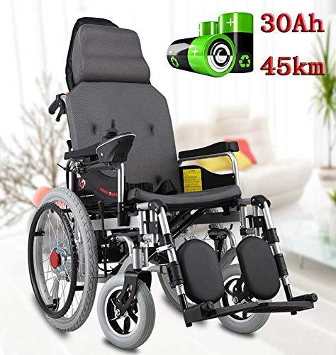Elektrischer Rollstuhl Leichter Rollstuhl, klappbarer Elektrorollstuhl, Elektrorollstuhlantrieb, tragbarer Elektrorollstuhl, einstellbare Geschwindigkeit, mit elektrischem oder manuellem Rollstuhl, 4
