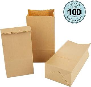 25x itenga Papiertragetaschen Geschenkt/üten mit Kordel 18x8x22cm 90g braun Kraftpapiert/üten Kraftpapierbeutel mit Griff mittlere Gr/ö/ße