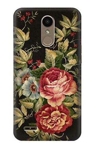 Innovedesire Vintage Antique Roses Hülle Schutzhülle Taschen für LG K10 (2018), LG K30, LG K11